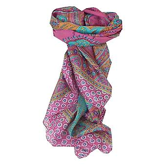 Mulberry Silk Traditional Square Scarf Koyna Cerise by Pashmina & Silk