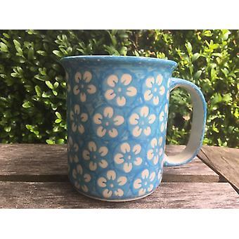 ↑ Artist beaker, 250 ml, Ø 9 cm, 10 cm, Bolesławiec turquoise, BSN J-4088