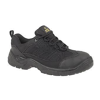أمبليرس من الصلب FS214 سيدات أسود سلامة مدرب/أحذية رجالي النسائي