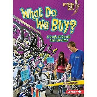 Vad köper vi?: en titt på varor och tjänster (Lightning Bolt böcker - att utforska nationalekonomi)