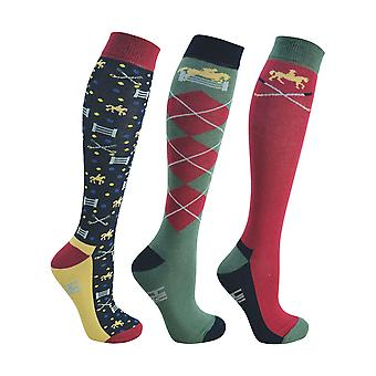 HyFASHION Adults Polo Socks (Pack of 3 Pairs)
