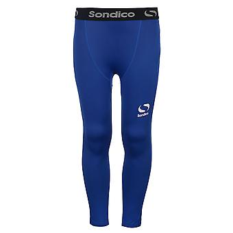 Sondico Kids Core Tights Junior Compression Fit Exercise Sport Baselayer Bottoms
