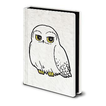 Harry Potter Premium Notizbuch Hedwig Fluffy Din A5, Hardcover, Fell-bzw. Feder-Look, gebunden, 160 Seiten liniert.