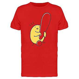 Huhn mit einem Ausrufezeichen T-Shirt Herren-Bild von Shutterstock