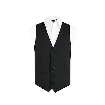 Chłopcy Dobell czarna kamizelka regularny krój