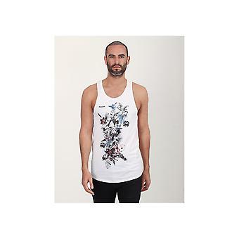 Religion Hand Drawn Flower Skeleton Vest