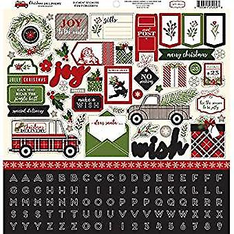 Carta Bella Christmas Delivery 12x12 Inch Element Sticker (CBCD58014)