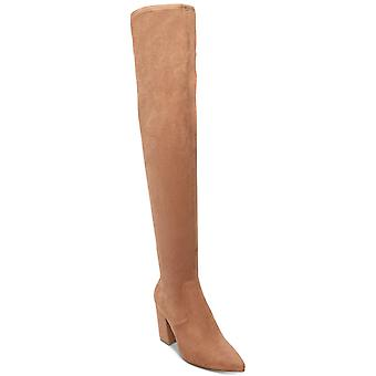 Steve Madden Womens Rational Fabric Pointed Toe Over Knee Fashion Boots