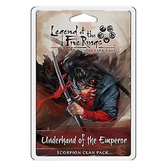 Legende van de vijf ringen onderhand van de keizer Scorpion clan Pack Card Game