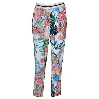 Betty Barclay Elasticated Waist Floral Print Trousers