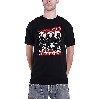 The Exploited T Shirt Attack band logo new Official Mens Black