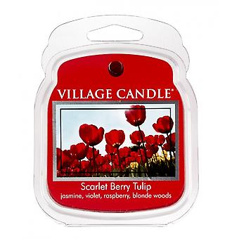 Village Candle Wax Melt Packs For Use with Melt Tart & Oil Burners Scarlet Berry Tulip