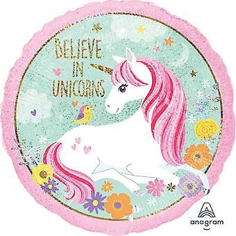 Anagram 18 Inch Magical Unicorn Circle Foil Balloon