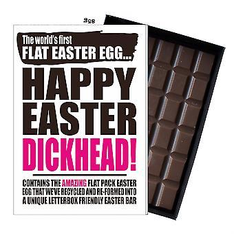 Funny Flat Easter Egg Chocolate Bar Greeting Card Gift Men Boyfriend Husband UK EIYF149