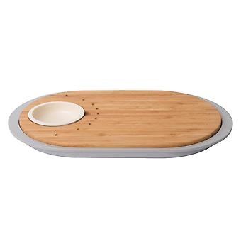 BergHOFF Two-sided bamboo tapas board with serving plate