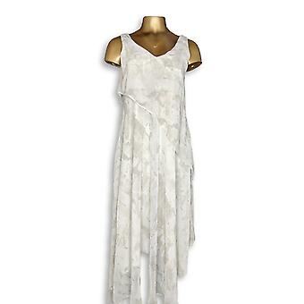 H by Halston kjole trykt ermeløs Maxi kjole taupe beige A277951