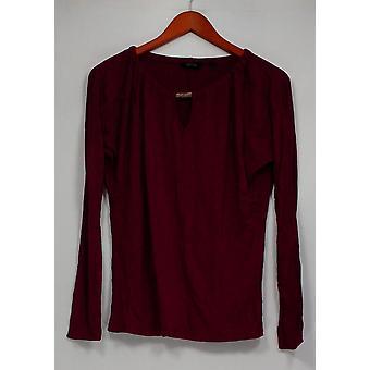 CE di Cristina Ehrlich Women's Top Knit con Keyhole Berry Red A235868