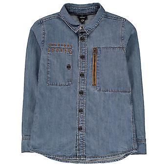 Firetrap Kids Boys Denim Shirt Junior Long Sleeve Casual
