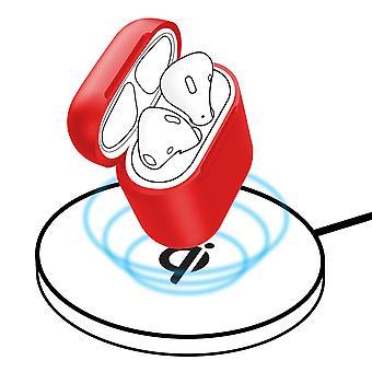 Pouzdro pro vzduchové moduly 1 a 2, silikonový obal, bezdrátový-Baseus červený