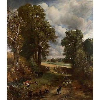 The Cornfield,John Constable,50x43cm