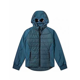 C.P. Company Undersixteen Blue Quilted Goggle Soft Shell Jacket