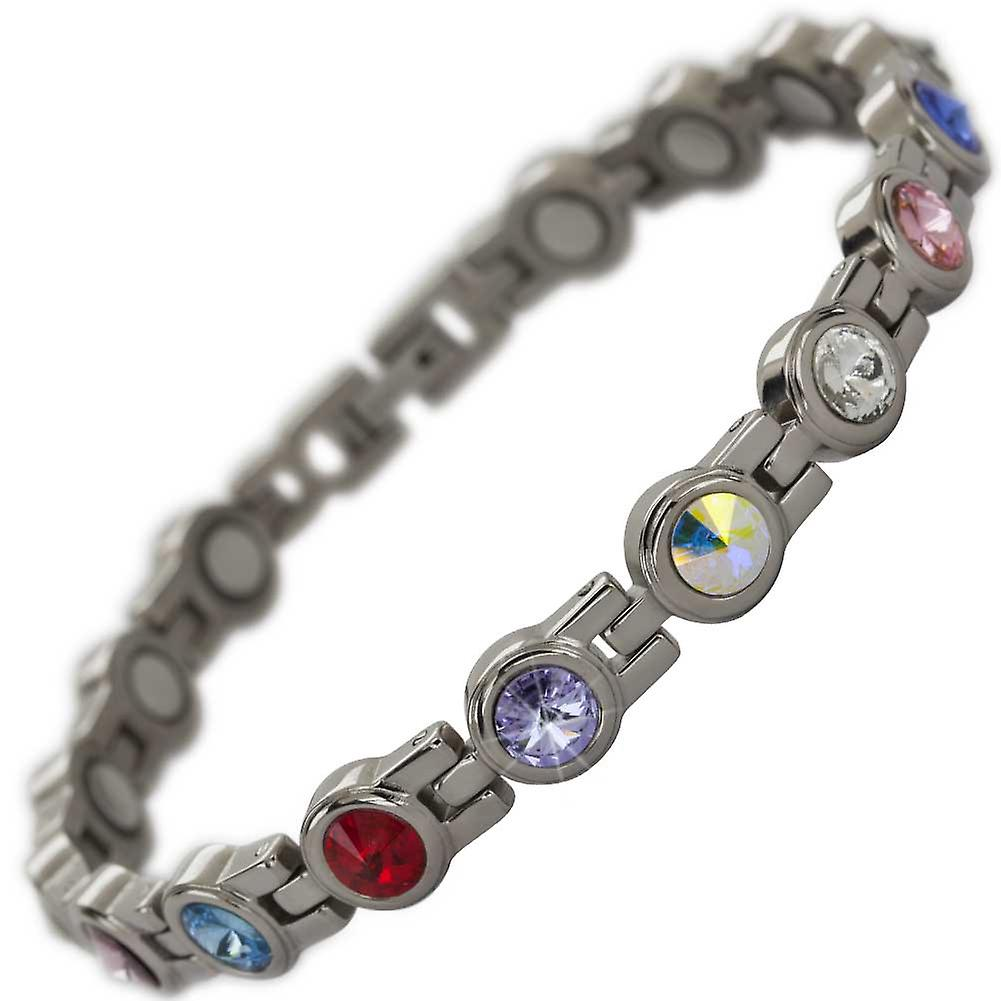 MPS® NORTHIA Titanium Magnetic Bracelet with Assorted Crystals + Resizing Tool