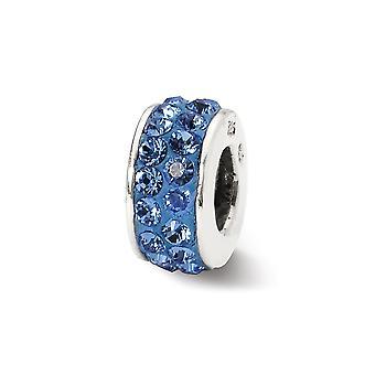 925 Sterling Silber poliert Reflexionen Sept Doppel Reihe Kristall Perle Anhänger Anhänger Halskette Schmuck Geschenke für Frauen