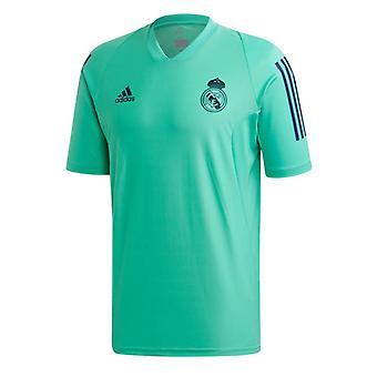 2019-2020 ريال مدريد أديداس الاتحاد الأوروبي قميص التدريب (الأخضر)