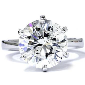 3 karat runde diamanter forbedret engasjement bryllup kabal 14K hvitt gull