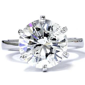 3 Carat Round Cut Enhanced Diamond Engagement Wedding Solitaire 14K White Gold