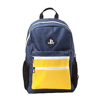 Playstation Backpack Colour Block Classic Logo new Official PS4 Blue