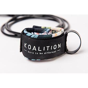 Koalition 8ft regular leash - waikiki black