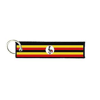 Port Cles Key Cle Homme Homme Fabric Brode Prints Ugandan Flag