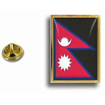 Pine PineS Badge Pin-apos;s Metal With Butterfly Pinch Flag Nepal Nepalais