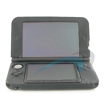 Protective rubber silicone cover case for nintendo 3ds xl - black