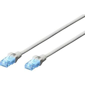 Digitus RJ45 Networks kabel CAT 5e U/UTP 3,00 m grijs