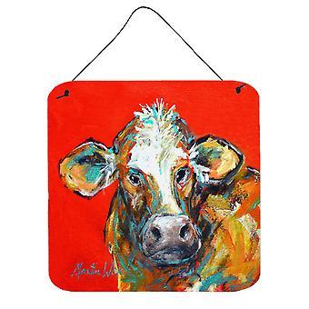 Kuh gefangen rot Hand zu Wand oder Tür hängen Drucke