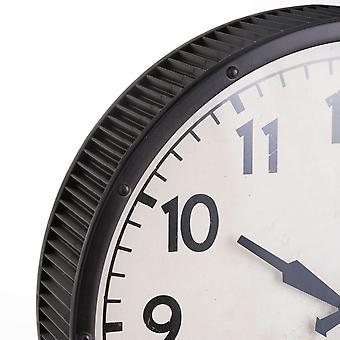Hill Interiors Horloge batteur gris