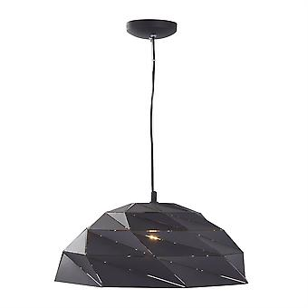 Searchlight Origami 1 Light Dome Pendant Sanded Black 6242BK