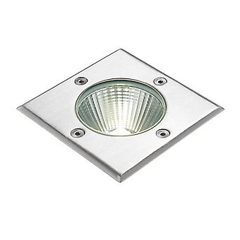 Saxby Lighting Ayoka Integrated LED 1 Light Outdoor Recessed Light Brushed Stainless Steel, Glass IP67 67406