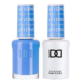 DND Duo Gel & Nail Polish Set - Blue Hawaiian 671 - 2x15ml