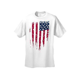 ユニセックスの戦いあなたの自由米国旗半袖 t シャツ