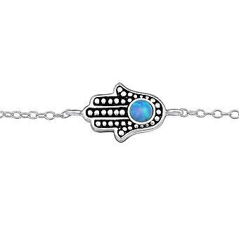 Hamsa - pulseras de cadena de plata esterlina 925 - W30229X