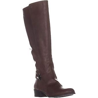 Alfani A35 Kallumm Wide Calf Riding Boots, Cognac, 8 US