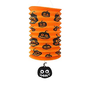 TRIXES Pop up Orange Pumpkin Barrel Lamp Halloween Party Decoration Lantern