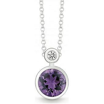 QUINN - Collana - Argento - Diamante - Ametilista - Wess. (H) - 27393933