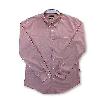 HUGO BOSS Rod sim fit cotton casua shirt in pink stripe