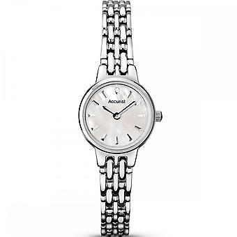 Accurist Ladies Round Mother Of Pearl Dial Stainless Steel Bracelet Watch