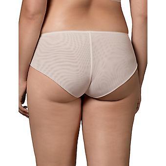 Nipplex Women's Margot Sand Beige Embroidered Knicker Shorties Boyshort