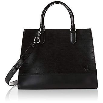 Trussardi Jeans T-Easy City Tote LG Saffiano Black Women's Bag (Black) 17x29x38 cm (W x H x L)